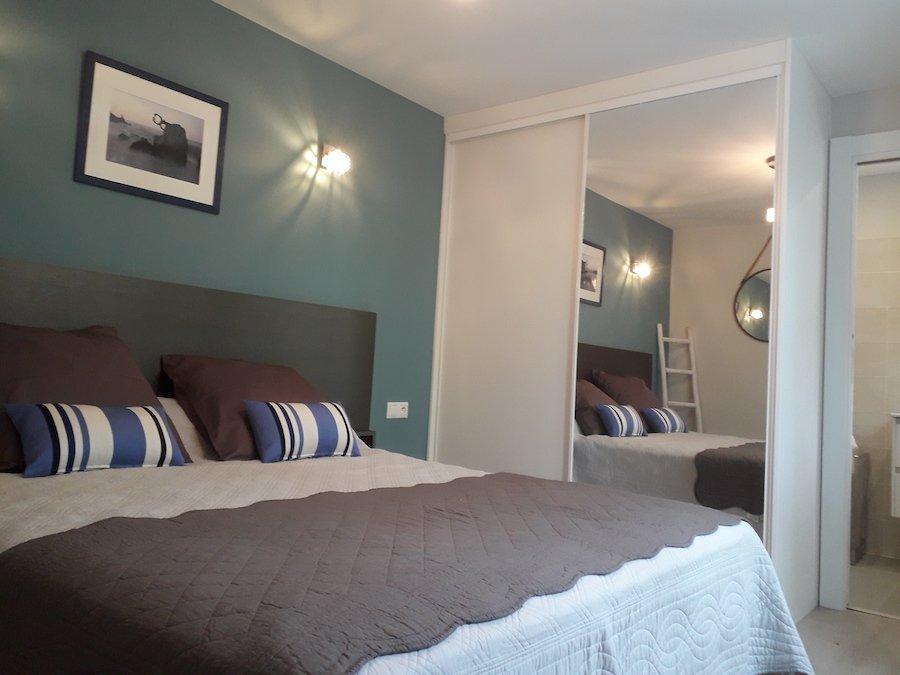 lit double chambre d'hôte Amalurra Saint-Jean-de-Luz