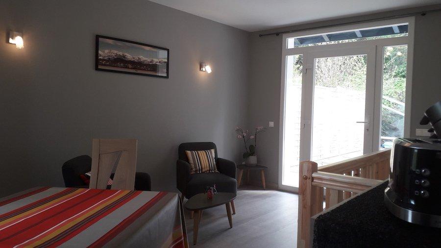 vue du salon de la chambre d'hôte Amalurra à Saint-Jean-de-Luz
